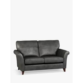 image-John Lewis & Partners Charlotte High Back Medium 2 Seater Leather Sofa, Dark Leg