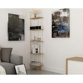 image-Phaneuf Corner Bookcase Blue Elephant Colour: White/Oak