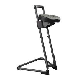 image-Height-adjustable office stool Symple Stuff Colour: Black