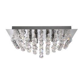 image-Searchlight 6404-4CC Hanna Square Flush Chrome 4 Light Fitting