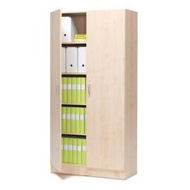 image-Lockable office cabinet CLEO, 2000x1000x310 mm, birch laminate