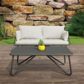 image-Teddi 2 Seater Sofa Set