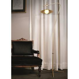 image-Gillen 160cm Arched/Arc LED Floor Lamp Corrigan Studio Base Finish: Black/Bruhed Barss