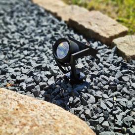 image-Heyneman Black Low Voltage Solar Powered Integrated LED Spot Light