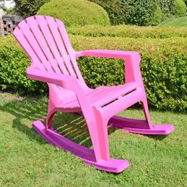 image-Monatuk Rocking Chair Sol 72 Outdoor Colour: Pink