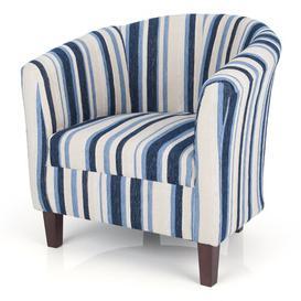 image-Toronto Tub Chair Marlow Home Co. Colour: Blue