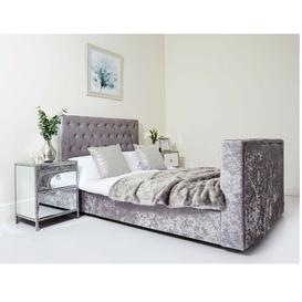 image-Houston Upholstered TV Bed Rosdorf Park Size: Double (4'6)
