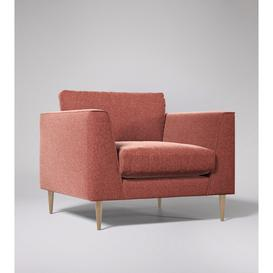 image-Swoon Nero Armchair in Pimpernel Smart Wool With Light Feet