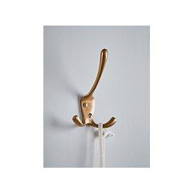 image-Antique Brass Triple Coat Hook
