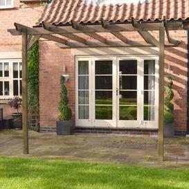 image-Pollitt Lean Pergola Sol 72 Outdoor Colour: Rustic Brown, Size: 248cm H x 300cm W x 300cm D