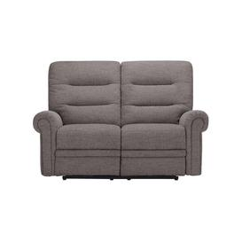 image-Andaz Charcoal Fabric Sofas - 2 Seater Electric Recliner Sofa - Eastbourne Range - Oak Furnitureland