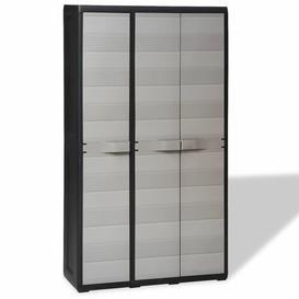 "image-""Glinda 67"""" H x 38"""" W x 15"""" D Garden Storage Cabinet with 4 Shelves Bloomsbury Market Finish: Grey"""