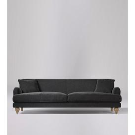 image-Swoon Chorley Three-Seater Sofa in Anthracite Smart Wool With Short Light Feet