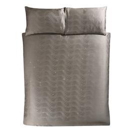 image-Pack Jacquard Duvet Cover Set Rosdorf Park Colour: Taupe, Size: Double - 2 Pillowcases (48 x 74 cm)