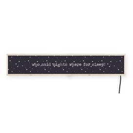 image-'Who said nights were for sleep?' Light Box Headboard Ebern Designs