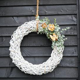 image-50cm White Rattan Wreath White
