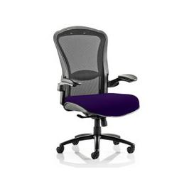 image-Houston Heavy Black Back Office Chair With Tansy Purple Seat