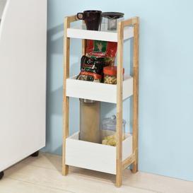 image-Kronqui 28 x 74cm Free Standing Bathroom Shelves Brambly Cottage