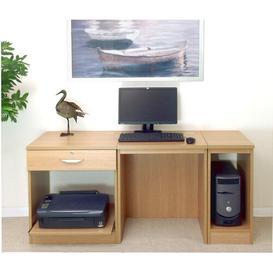image-Walshaw Computer Desk Ebern Designs Finish: Classic Oak