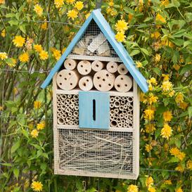 image-Sanya Insect Hotel Hanging Butterfly and Ladybird House Dakota Fields Colour: Blue