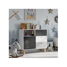image-Vox Concept Chest of Drawers in Grey & Black
