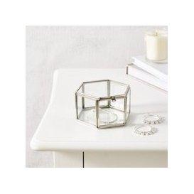 image-Hexagonal Trinket Box, Silver, One Size