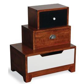 image-Elizabeth Vintage Bedroom Furniture Staggered Left Hand Bedside Table