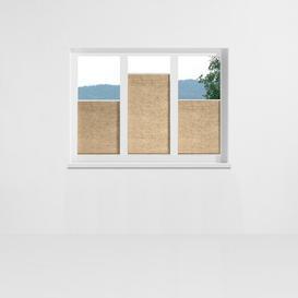 image-Aigue Pleated Blind Symple Stuff Size: 70cm x 130cm, Colour: Biscuit