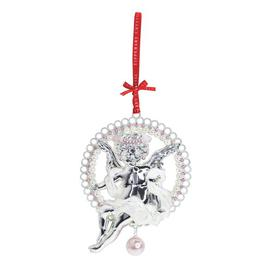 image-Tipperary Crystal Pearl Cherub Christmas Hanging Figurine Ornament Tipperary Crystal