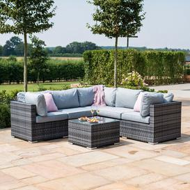 image-Sukhani 6 Seater Rattan Corner Sofa Set Sol 72 Outdoor Colour: Grey