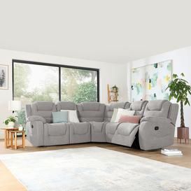image-Vancouver Light Grey Fabric Recliner Corner Sofa