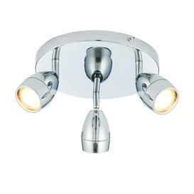 image-Mcoy dimmable 3-light LED bathroom spotlight in chrome, IP44 - 90613.