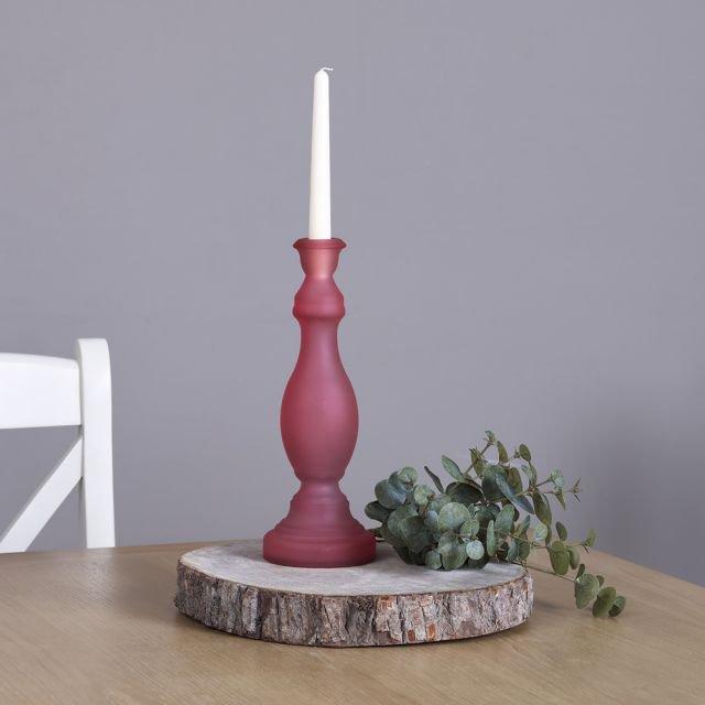 image-Armilla Glass Candle Holder - Pink
