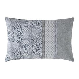 image-Fat Face - Floral Mosaic Pillowcase - Pearl Blue - Set of 2