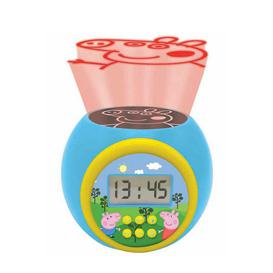 image-Lexibook Peppa Pig Childrens Projector Clock with Timer
