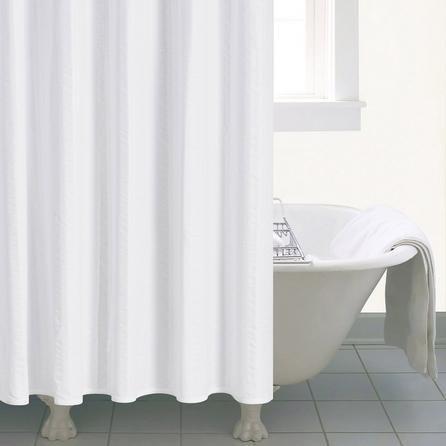 image-Seersucker Shower Curtain White