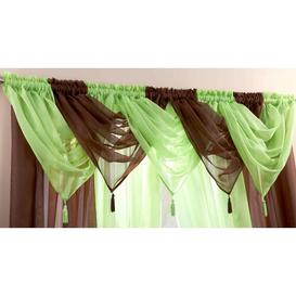 image-Maloy 56cm Curtain Pelmet Bloomsbury Market Colour: Chocolate