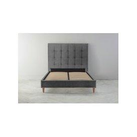 image-Hopper 6' Super King Bed Frame in Eggshell Grey