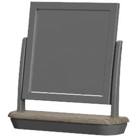 image-Pebble Slate Grey Painted Furniture Dressing Table Mirror