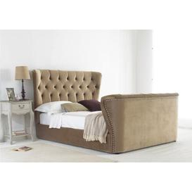 image-Copenhagen Upholstered Bed Frame Symple Stuff Size: Double (4'6), Colour: Stone, Mattress Type: None
