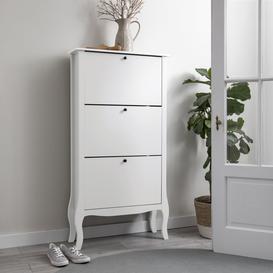 image-Camille 3 Drawer Shoe Storage in White