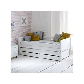 image-Flexa Nordic Kids Day Bed with Trundle Bed & Drawers in White