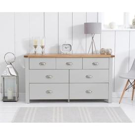 image-Anna Solid Hardwood Oak And Painted Grey 4 + 3 Drawer Chest