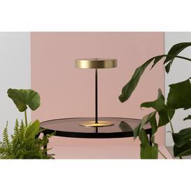 image-Amber LED Table Lamp, Matt Brass