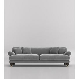 image-Swoon Willows Three-Seater Sofa in Silver Grey Easy Velvet