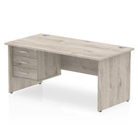 image-Zetta Executive Desk Ebern Designs Size: 73cm H x 180cm W x 80cm D