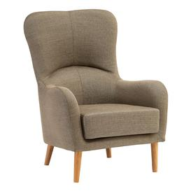 image-Giausar Fabric Upholstered Armchair In Mink