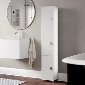 image-Ataie 30 x 168cm Free-Standing Tall Bathroom Cabinet Ebern Designs Colour: White