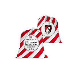 image-Personalised AFC Bournemouth Christmas Delivery Santa Sack