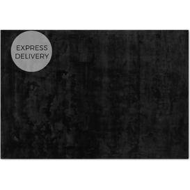 image-Merkoya Luxury Viscose Rug, Large 160 x 230cm, Black